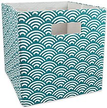 DII 13 x 13 x 13, Waves Teal, Polyester, L