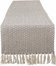 DII Braided Cotton Table Runner, Perfect for