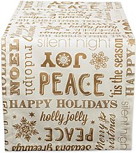 DII, Christmas Collage Gold, Table Runner 14x108