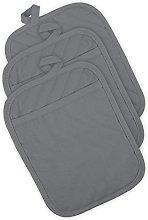 DII Cotton Quilted Pocket Pot Holder, 8 x 8 Set of