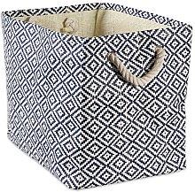 DII Geo Diamond Woven Paper Laundry Hamper or