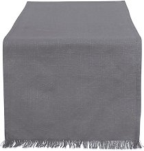DII Heavyweight Fringed TR Solid 14X72 Gray, Table