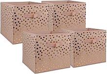 DII Polka Dot Collapsible Bin Non Woven Storage