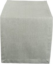 DII Solid Table Runner, Chambray Artichoke Green,