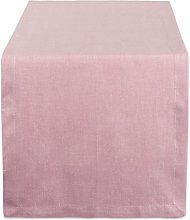 DII Solid Table Runner, Chambray Rose, 14x108