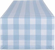 DII Tabletoppers, Cotton, White & Light Blue,