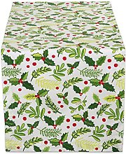 DII TR BOUGHS of Holly 14X108, Table Runner