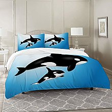 DIIRCYB Duvet Cover Set-Bedding,Orca Family Mother