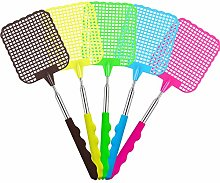 DILISEN 5 Pack Extendable Fly Swatter, Manual Swat
