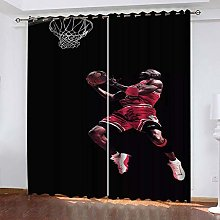 DILITECK Childrens Blackout Curtains Basketball