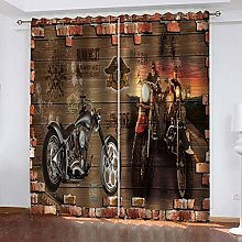 DILITECK Childrens Blackout Curtains Brown Plank