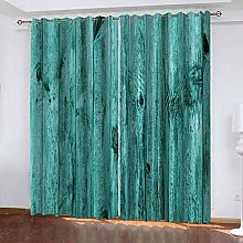 DILITECK Childrens Blackout Curtains Fashion Wood