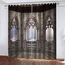 DILITECK Childrens Blackout Curtains Houses