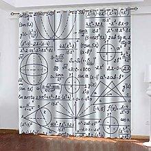 DILITECK Childrens Blackout Curtains Mathematics