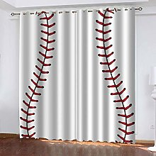 DILITECK Childrens Blackout Curtains Sports Sports