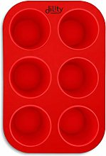dility Large 6 Cup Silicone Muffin Trays, Non