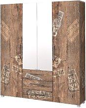 Dill 3 Door Wardrobe Mercury Row Colour: Brown