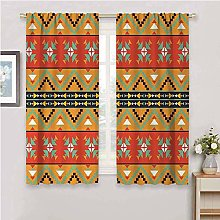 DIMICA Black out window curtain 2 panel abstract