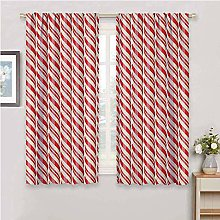 DIMICA Blackout Window Curtains candy cane red