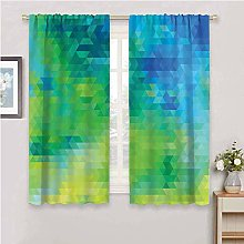 DIMICA Home Decor Sliding Door Curtains green and