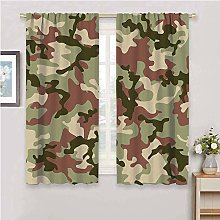 DIMICA Outdoor curtain camo illustrated green