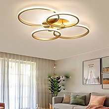 Dimmable LED Ceiling Light Modern Gold 4 Round