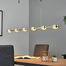 Dimmable LED hanging lamp Niro w. gold finish