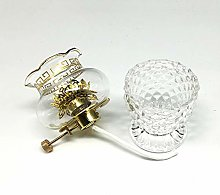 Dimming Small Oil Lamp Crystal Glass Kerosene Lamp