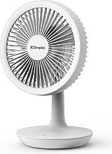 Dimplex Rechargeable White Desk Fan - 5 Inches
