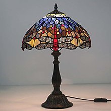 DIMPLEYA Lamps Tiffany Style Table Lamps, Stained