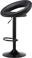 Dims Bar stool, black PU leather, high bar chair,
