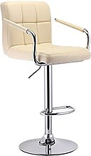 Dims Bar Stool with Footrest, Swivel Bar Chairs