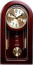 DINEGG Classic Wood Pendulum Clock With Hourly