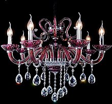 Ding Crystal Candle Chandelier Purple