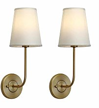 DINGYGJ Vintage Modern fabric shade wall sconces,
