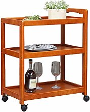 DINGZXC Kitchen Trolley Rolling Serving Carts