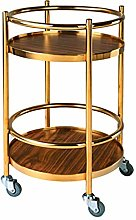 DINGZXC Serving Cart Kitchen Trolley Cart Solid