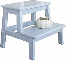 DINGZXC Step Stool,3 Step Stool, Wooden Utility