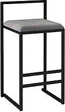 Dining Chair Bar Stool Modern Minimalist Backrest