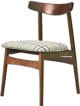 Dining chair,Cloth Solid Wood Backrest Leisure