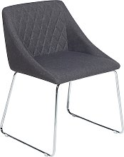 Dining Chair Fabric Dark Grey ARCATA