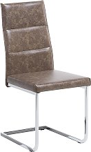 Dining Chair Modern Industrial Upholstered Faux