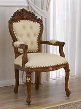 Dining chair with armrests Allison English Baroque