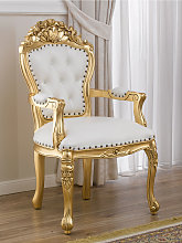 Dining chair with armrests Allison French Baroque