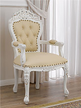 Dining chair with armrests Allison Shabby Chic