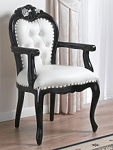 Dining chair with armrests Amalia Dark Baroque