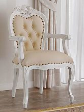 Dining chair with armrests Amalia Shabby Chic