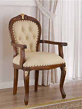 Dining chair with armrests Charlotte English
