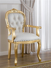 Dining chair with armrests Charlotte French