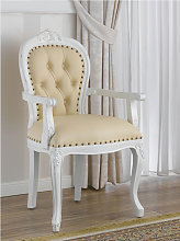 Dining chair with armrests Charlotte Shabby Chic